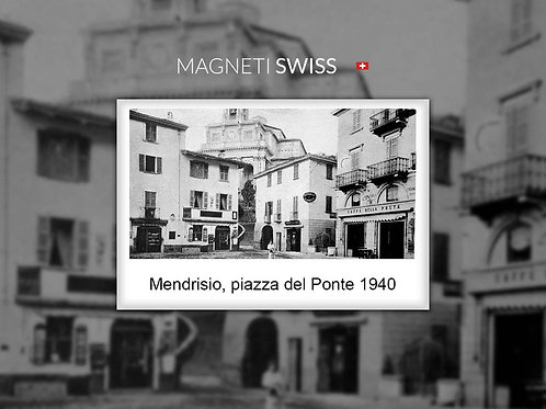 Mendrisio, piazza del Ponte 1940