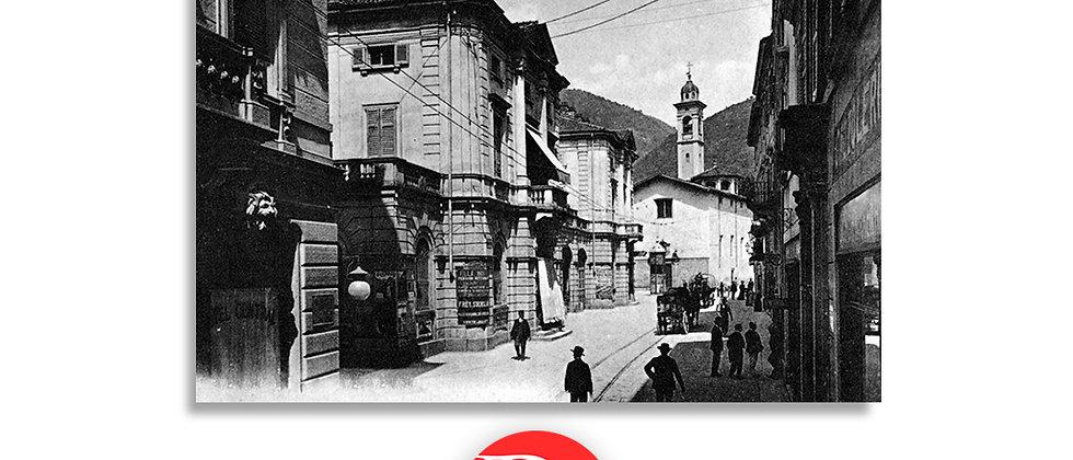 Lugano via Canova e la prima Posta fine '800