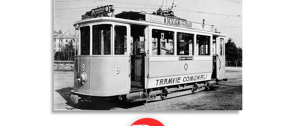 Tram Lugano - Paradiso anno 1940 c.a.