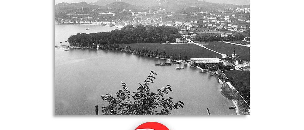 Lugano la foce veduta dal monte Brè anno 1890 c.a.