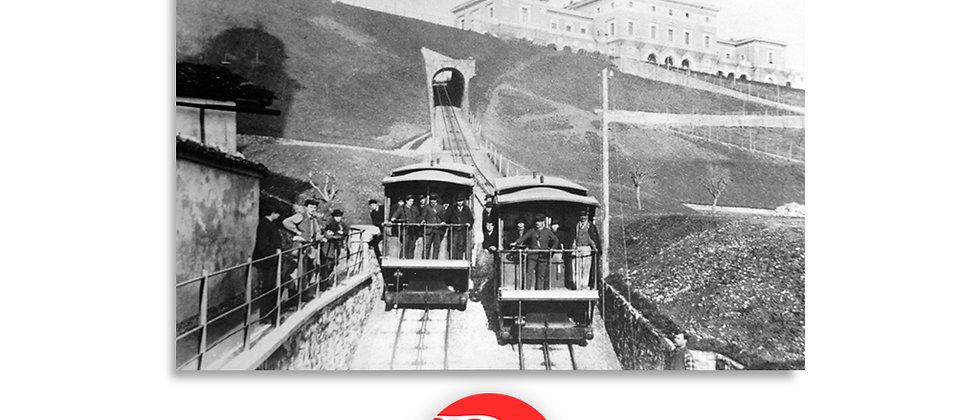 Lugano funicolare e stazione anno 1890 c.a.