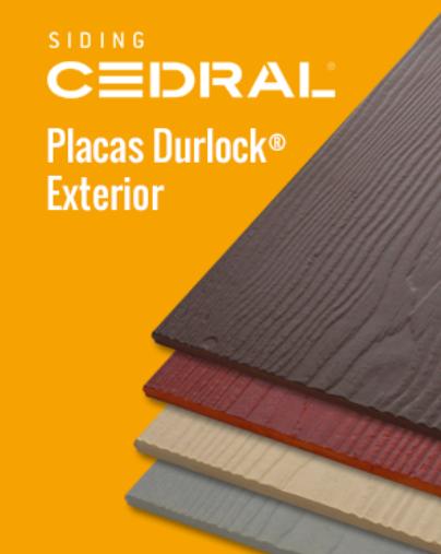 Placa Durlock Siding Cedral