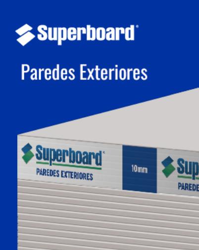 Placa Superboard para paredes exteriores
