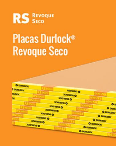 Placa Durlock Revoque Seco