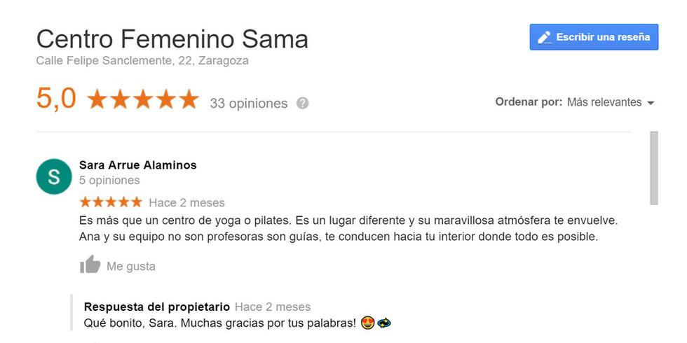 yoga zaragoza opiniones SAMA