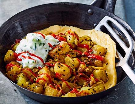 Bombay potato omelette