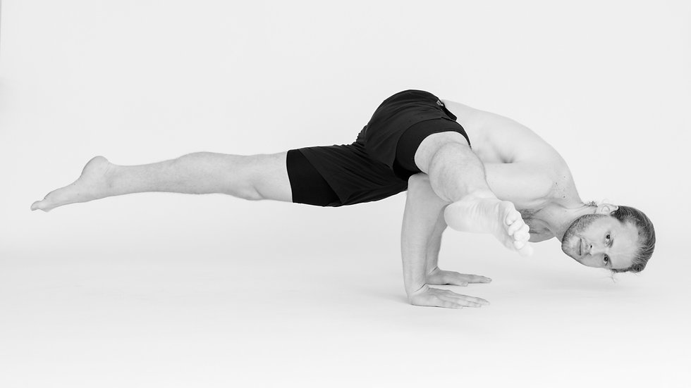 Eka Pada Koundinyasana Flying Splits Hurdler's Pose Yoga Arm Balance