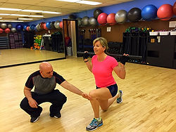 Woman Lunging Mississauga Personal Trainer
