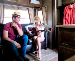 """Peitor Angell and Charo rehearse in Ft Lauderdale Trailor for """"Fantastico"""" debut"""