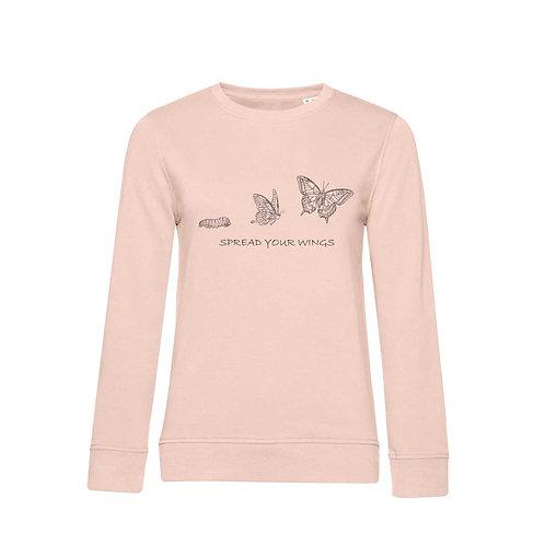 Organic Woman Sweatshirt Soft Pink - Farfalla