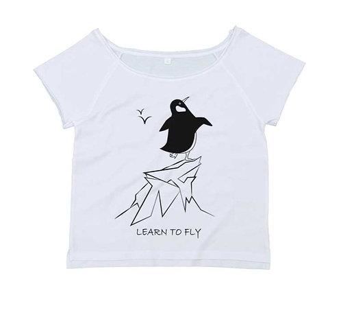 Organic Dance T-shirt White - Pinguino