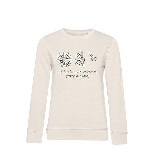 Organic Woman Sweatshirt Natural - Margherita