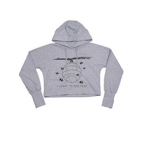 Organic Cropped Hoodie Grey - Api