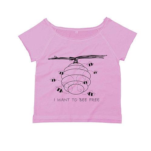Organic Dance T-shirt Soft Pink - Api