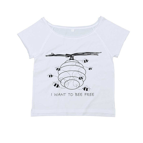 Organic Dance T-shirt White - Api