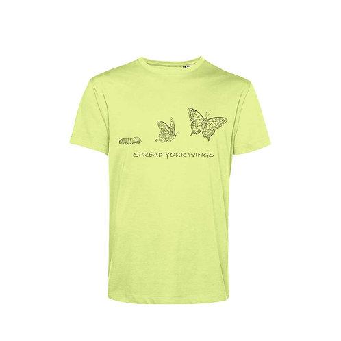 Organic T-shirt Lime - Farfalla