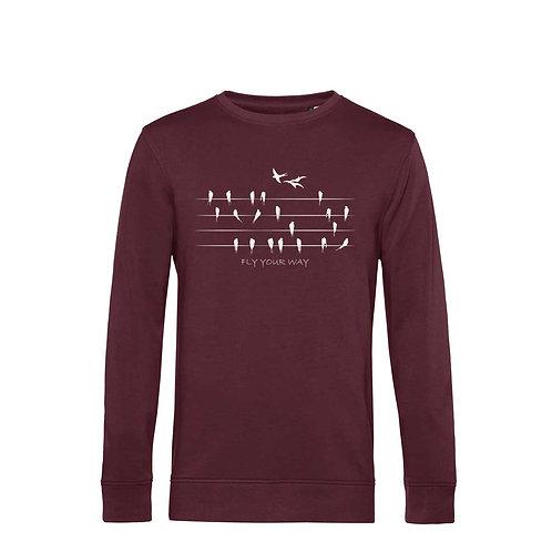 Organic Sweatshirt Burgundy - Rondini