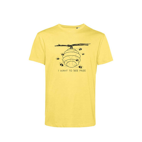 Organic T-shirt Yellow - Api