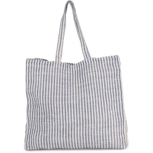 Striped Beach Bag Blue Fog