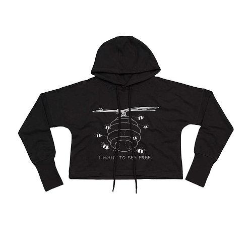 Organic Cropped Hoodie Black - Api