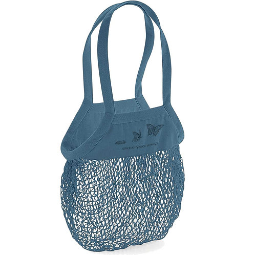 Organic Shopping Bag Airforce Blue - Farfalla