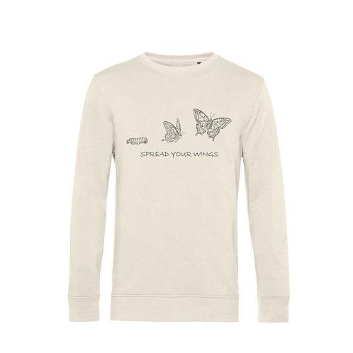 Organic Sweatshirt Natural - Farfalla