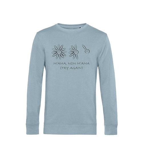 Organic Sweatshirt Blue Fog - Margherita