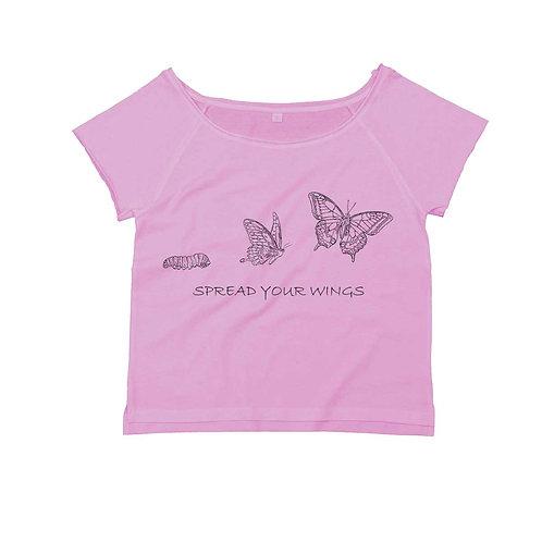 Organic Dance T-shirt Soft Pink - Farfalla