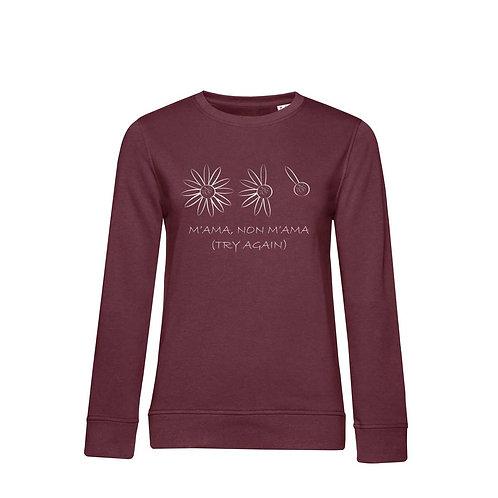 Organic Woman Sweatshirt Burgundy - Margherita