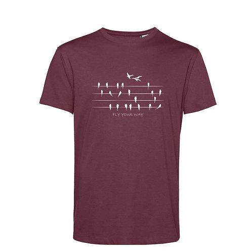 Organic T-shirt Burgundy  - Rondini