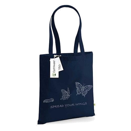 Organic Shopper Navy - Farfalla