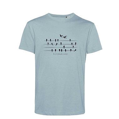 Organic T-shirt Blue Fog - Rondini