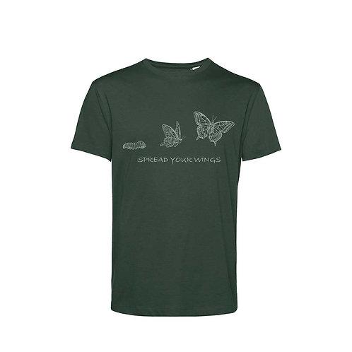 Organic T-shirt Forest  - Farfalla