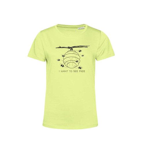 Organic Woman T-shirt Lime - Api