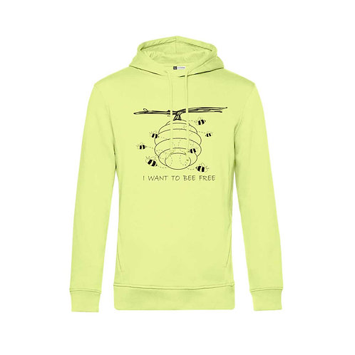 Organic Hoodie Lime - Api