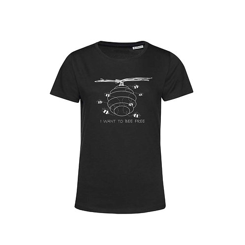 Organic Woman T-shirt Black - Api
