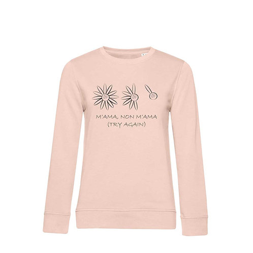 Organic Woman Sweatshirt Soft Pink - Margherita