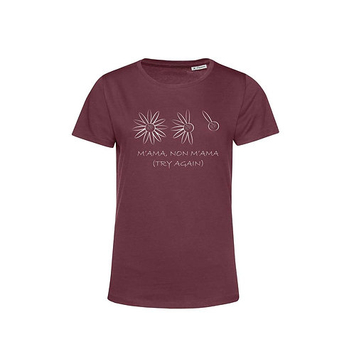 Organic Woman T-shirt Burgundy - Margherita