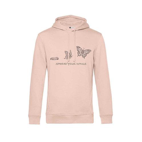 Organic Hoodie Soft Pink - Farfalla