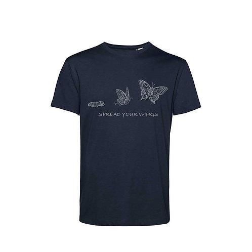 Organic T-shirt Navy  - Farfalla