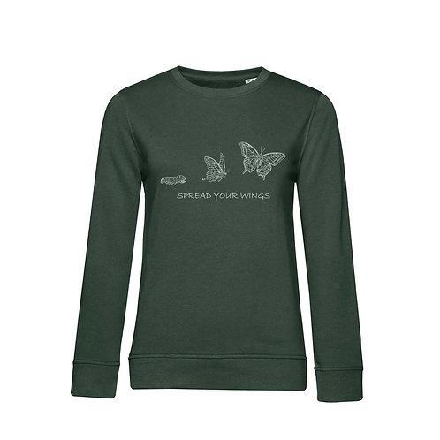 Organic Woman Sweatshirt Forest - Farfalla