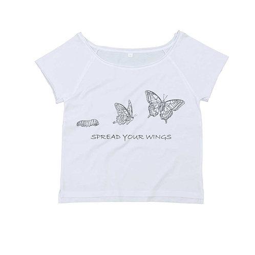 Organic Dance T-shirt White - Farfalla
