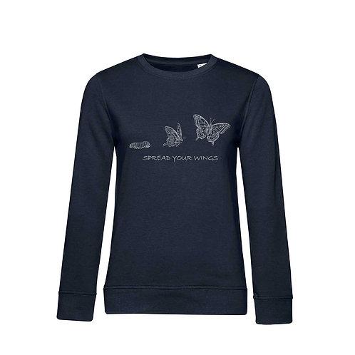 Organic Woman Sweatshirt Navy - Farfalla
