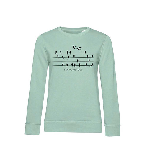 Organic Woman Sweatshirt Sage - Rondini