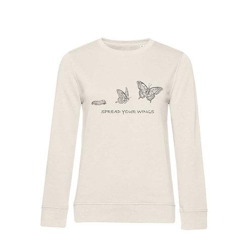 Organic Woman Sweatshirt Natural - Farfalla