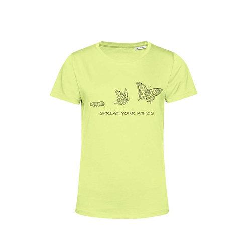 Organic Woman T-shirt Lime - Farfalla