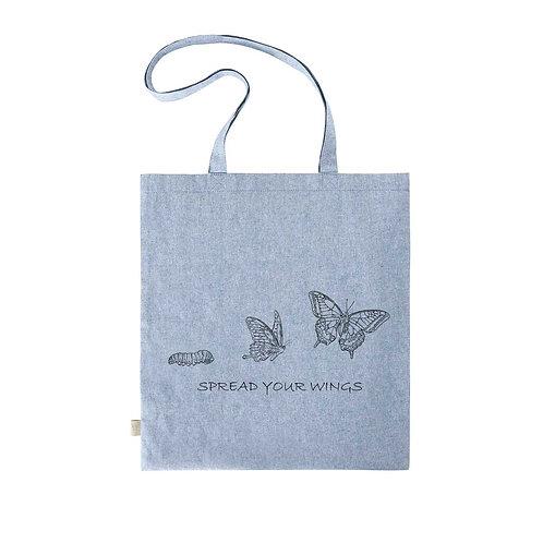 Recycled Shopper Blue Fog - Farfalla