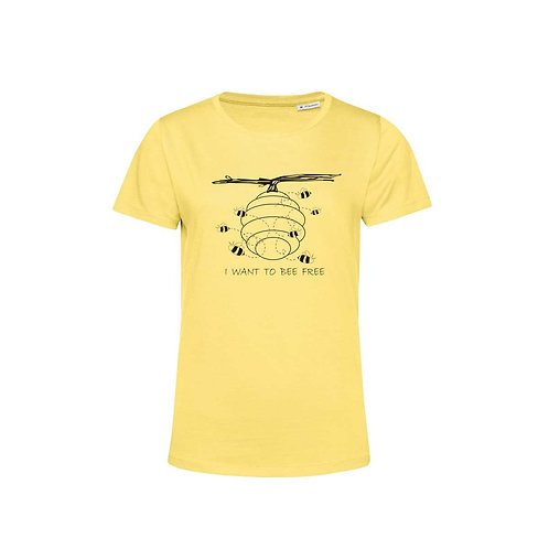 Organic Woman T-shirt Yellow - Api