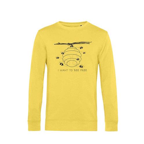 Organic Sweatshirt Yellow - Api