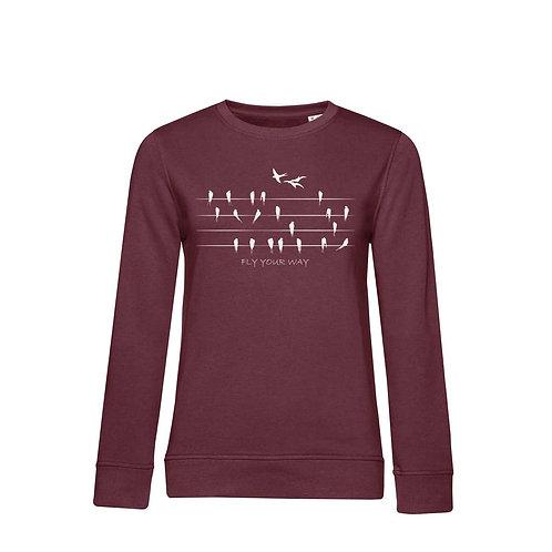 Organic Woman Sweatshirt Burgundy - Rondini
